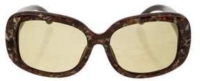 Oscar de la Renta x Linda Farrow Marble Oversize Sunglasses