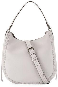 Rebecca Minkoff Convertible Pebbled Hobo Bag - GREY - STYLE