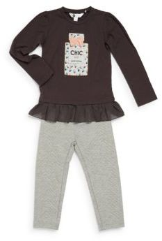 Petit Lem Little Girl's Two-Piece CHIC Tunic & Pants Set