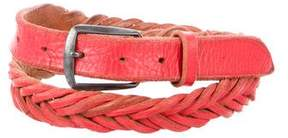 Golden Goose Deluxe Brand Braided Waist Belt