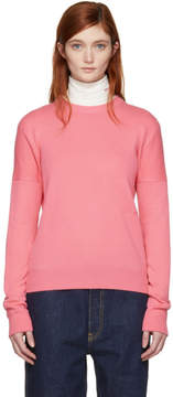 Calvin Klein Pink Cashmere Small Logo Sweater