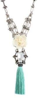 Dannijo Tassel& Chain Necklace