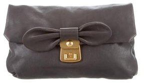 Marc by Marc Jacobs Bow-Embellished Leather Clutch
