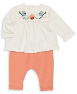 Chloé Baby's Two-Piece Embroidered Top & Stretch Pants