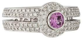 Di Modolo 18K Diamond & Pink Sapphire Cocktail Ring