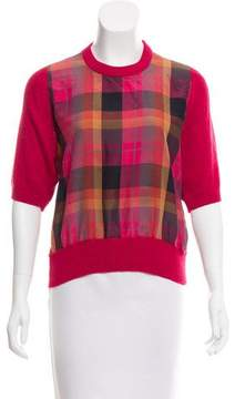 Christian Dior Plaid Knit Top