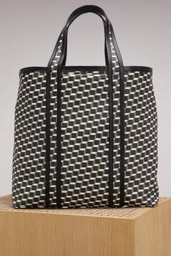 Pierre Hardy Canvas Cube Calf Tote