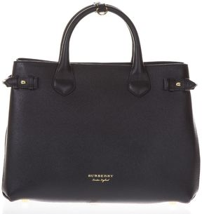 Burberry House Check Leather Bag - BLACK - STYLE