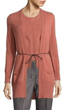 Peserico Tie-Front Cardigan