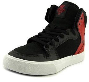Supra Vaider Youth Round Toe Synthetic Black Sneakers.