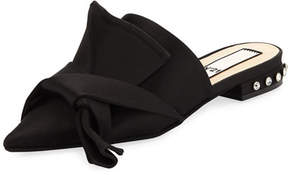 No.21 No. 21 Knotted Satin Slide Mule