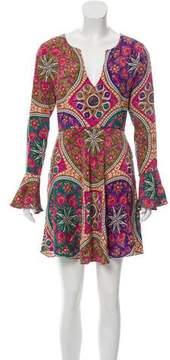 Calypso Printed Bell Sleeve Dress
