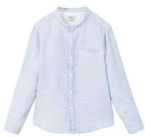 MANGO Textured cotton shirt