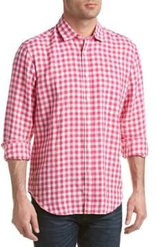 J.Mclaughlin Gramercy Linen Regular Fit Woven Shirt.
