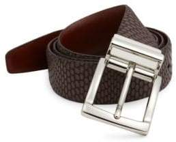Saks Fifth Avenue COLLECTION Iguanna Embossed Leather Belt