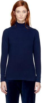 Blue Blue Japan Indigo Rib Knit Turtleneck