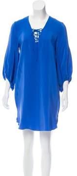 Amanda Uprichard Lace-Up Silk Dress w/ Tags