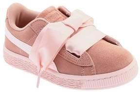 Puma Girls' Suede Heart PS Sneaker