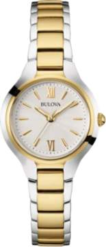 Bulova Classics Collection 98L217 Gold/Silver Analog Quartz Women's Watch