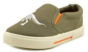 Carter's Damon4 Youth Round Toe Canvas Green Loafer.