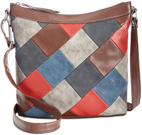 Style&Co. Style & Co Janis Patchwork Crossbody Hobo, Created for Macy's
