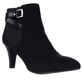 Karen Scott Ks35 Majar Back Strapped Ankle Booties, Black.