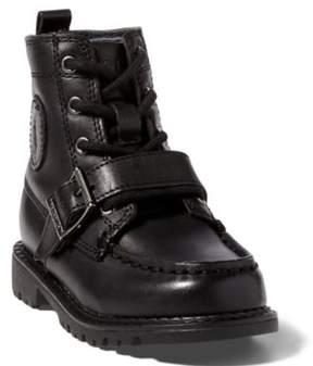 Ralph Lauren Leather Ranger Hi Ii Boot Black Leather 4.5