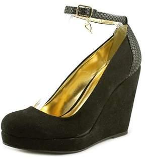 Thalia Sodi Massiel Open Toe Synthetic Wedge Heel