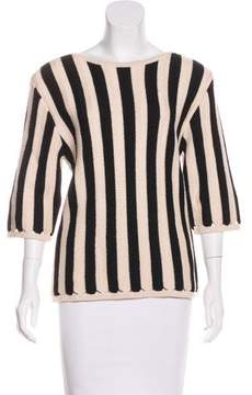 Courreges Striped Knit Sweater
