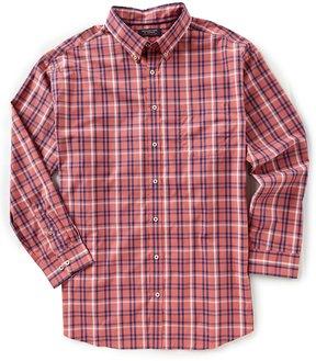 Roundtree & Yorke Trademark Big & Tall Long-Sleeve Plaid Sportshirt