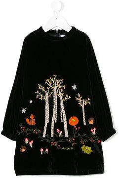 Simonetta velvet embroidered dress