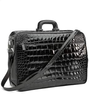Brooks Brothers Glazed Alligator Travel Bag