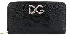 Dolce & Gabbana logo zip around purse - BLACK - STYLE
