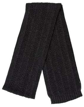 Chloé Charcoal Knit Scarf