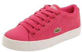 Lacoste Toddler Straightset Lace 316 Sneakers In Dark Pink.