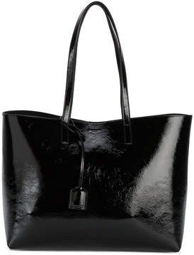 Saint Laurent Black Patent Leather Shopping tote bag - BLACK - STYLE
