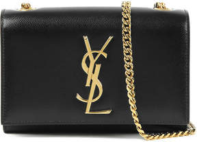 Saint Laurent Monogram small leather shoulder bag - BLACK - STYLE