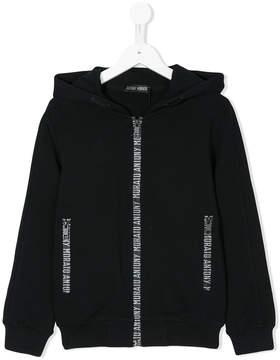 Antony Morato logo zip-front hoodie
