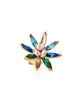 Sequin Marquis Crystal Statement Ring