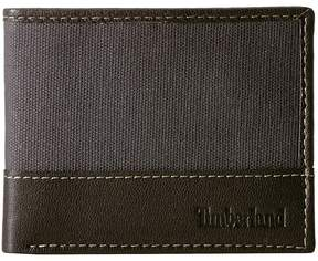 Timberland Canvas Leather Billfold Set Wallet