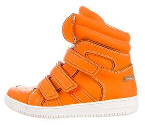DSQUARED2 Leather High-Top Sneakers