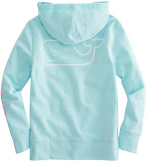 Vineyard Vines Girls French Terry Two-Tone Vintage Whale Hoodie