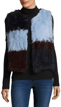 525 America Women's Patchwork Rabbit Fur Vest