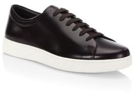 Prada Leather Low-Top Sneakers