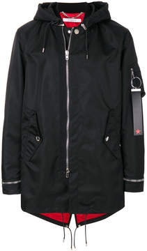 Givenchy zip front hooded coat
