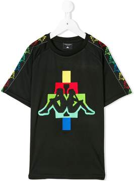 Marcelo Burlon County of Milan Kids x Kappa logo embroidered T-shirt