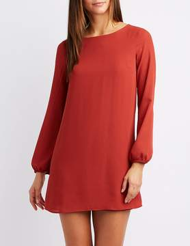 Charlotte Russe Caged-Back Shift Dress