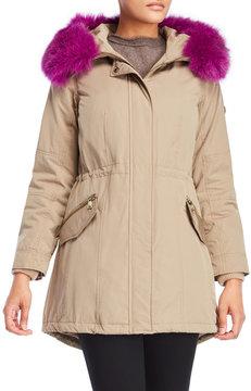 1 Madison Real Fur Hooded Jacket