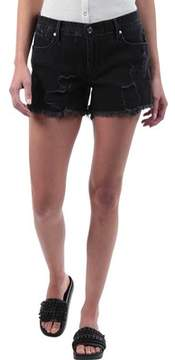 RtA Olivia Distressed Denim Short in Ash Destroyed (Women's)