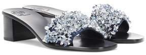 Tory Burch Logan 45 embellished satin sandals